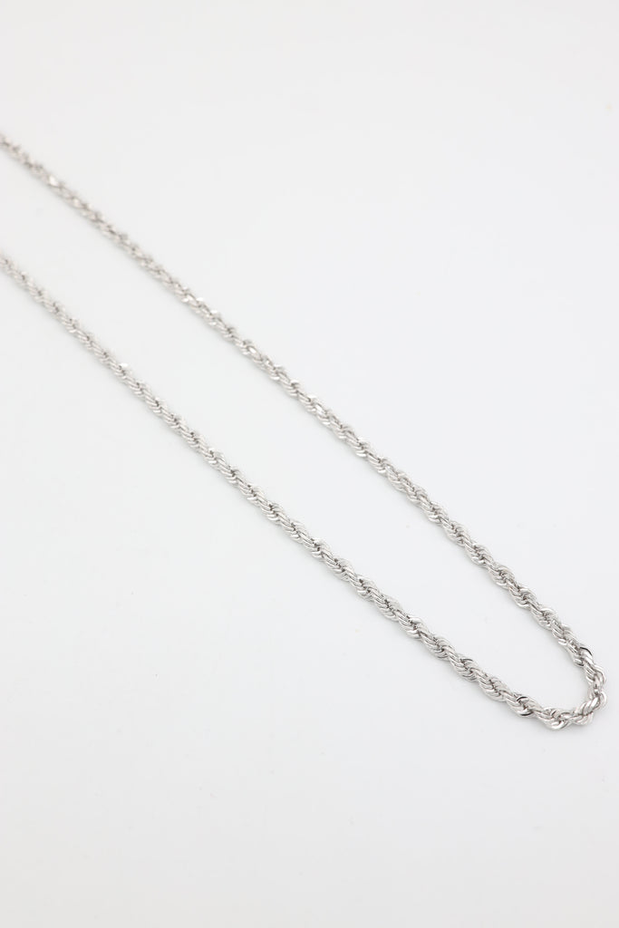 *NEW* 14K Solid White Gold Rope Chain - JTJ™ - Javierthejeweler