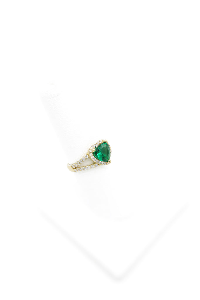 *NEW* 14K CZ Woman's Ring Green (May) - JTJ™ - Javierthejeweler