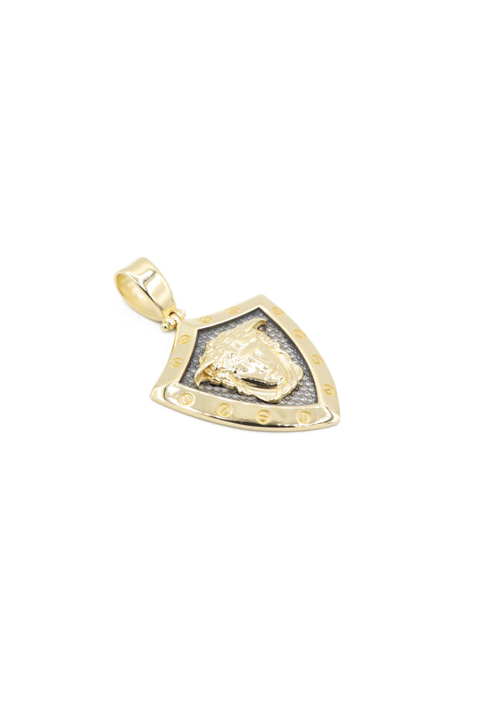 *NEW* 14K Versace Shield Pendant JTJ™ - Javierthejeweler