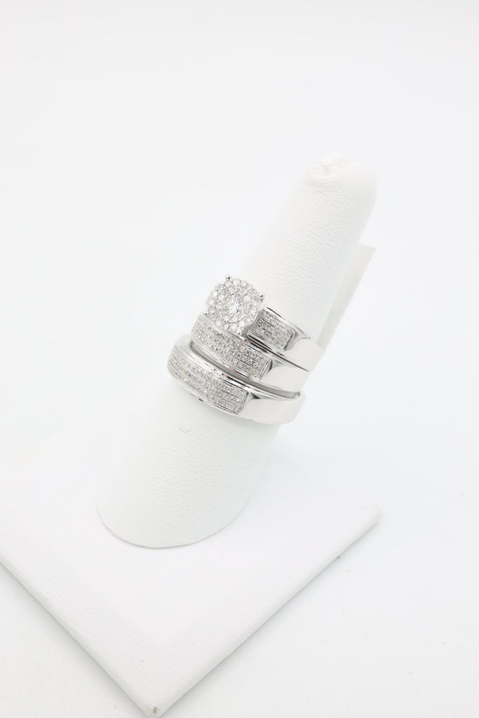 *NEW* 14K White Gold Trio Set Diamond 💎 Rings JTJ™ - Javierthejeweler