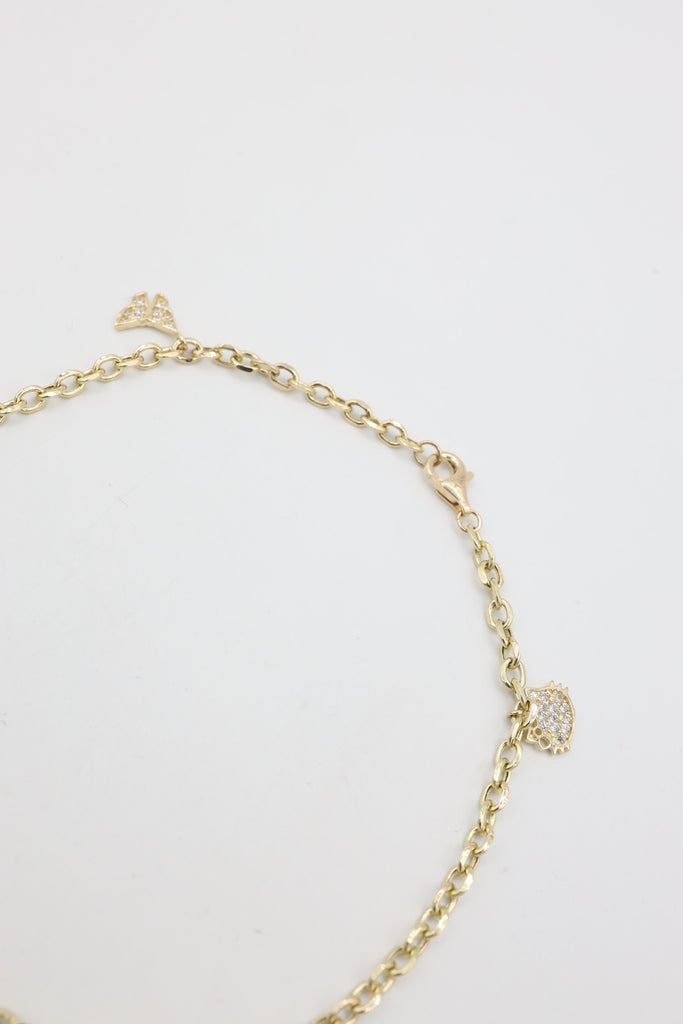 *NEW* 14K Charms Ankle Bracelet 😻 👑 🦋 JTJ™ - Javierthejeweler