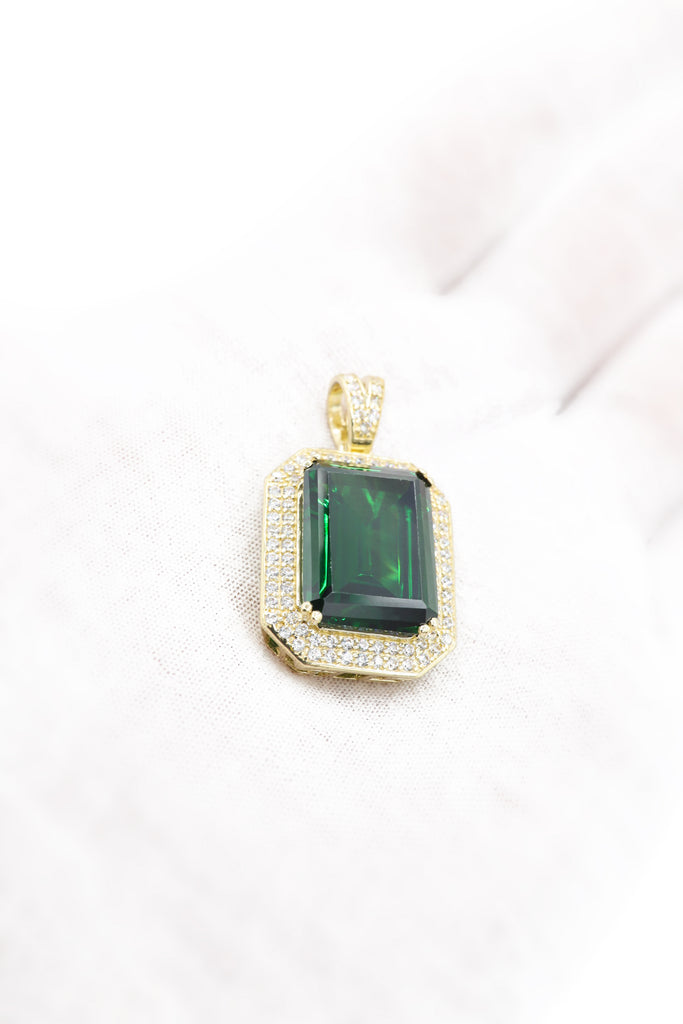*NEW* 14k Green Square Stone Pendant (MEDIUM SIZE) JTJ™ - Javierthejeweler