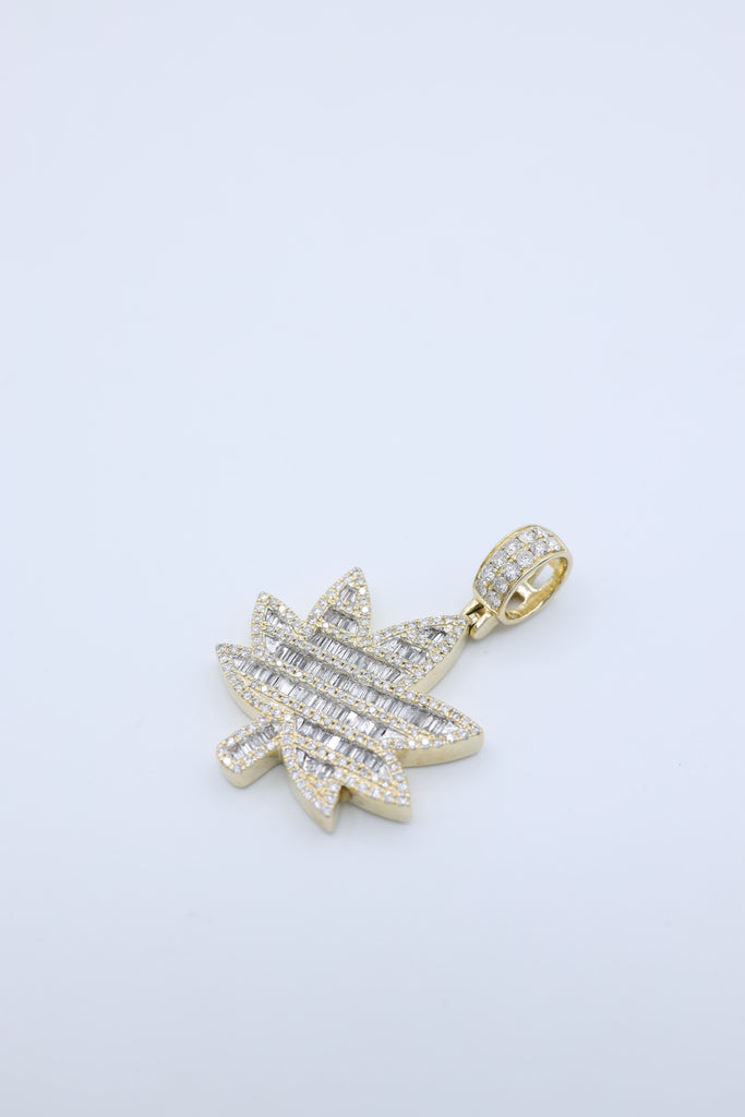 *NEW* 14K Marijuana Leaf Diamond Pendant JTJ™ - Javierthejewelernyc