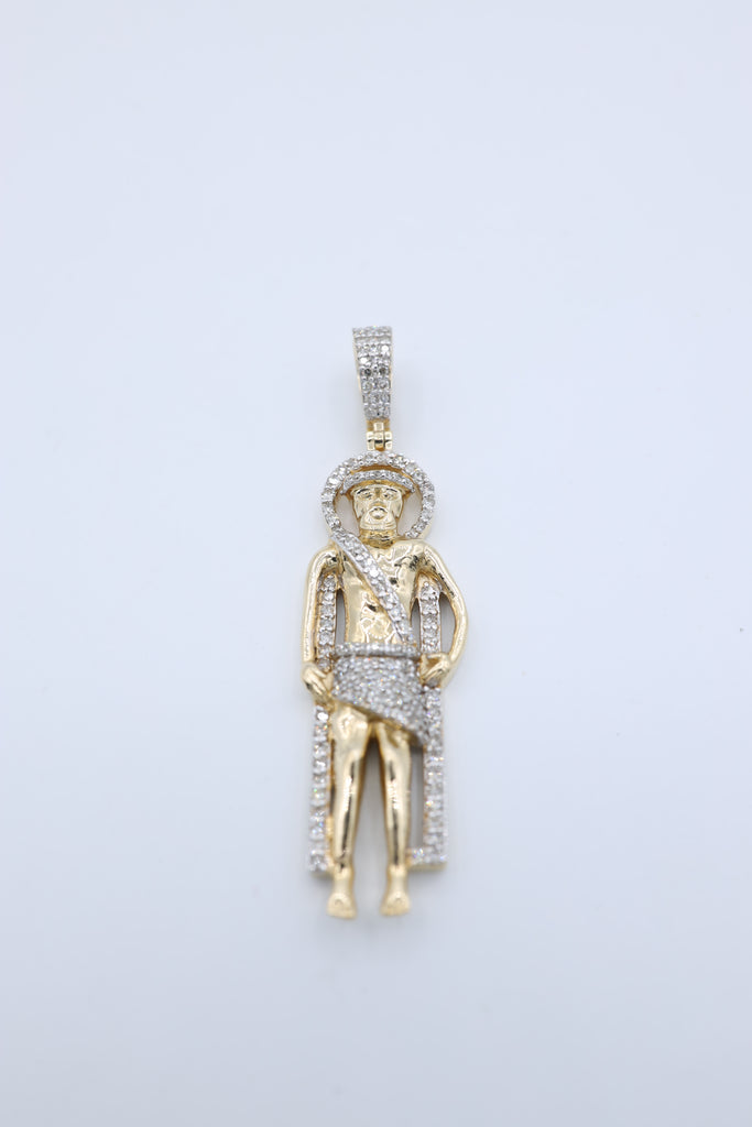 *NEW* 14K Saint Lazarus Diamond Pendant JTJ™ - Javierthejewelernyc