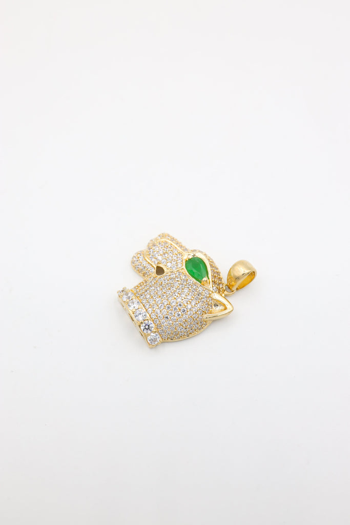 14K Green Eye Jaguar Pendant JTJ™ - Javierthejewelernyc
