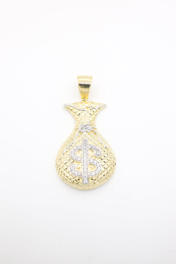 14K Large Money Bag Pendant JTJ™ - Javierthejewelernyc
