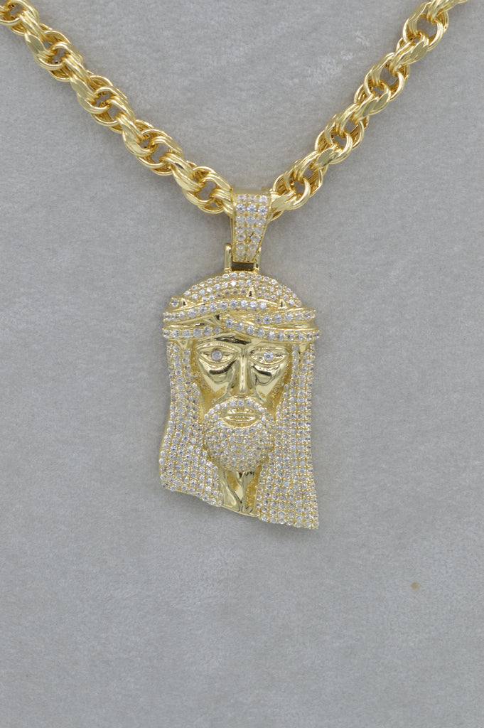 *NEW* 14k Jesus Face Pendant W/ Rope Chain Included - JTJ™ - Javierthejewelernyc