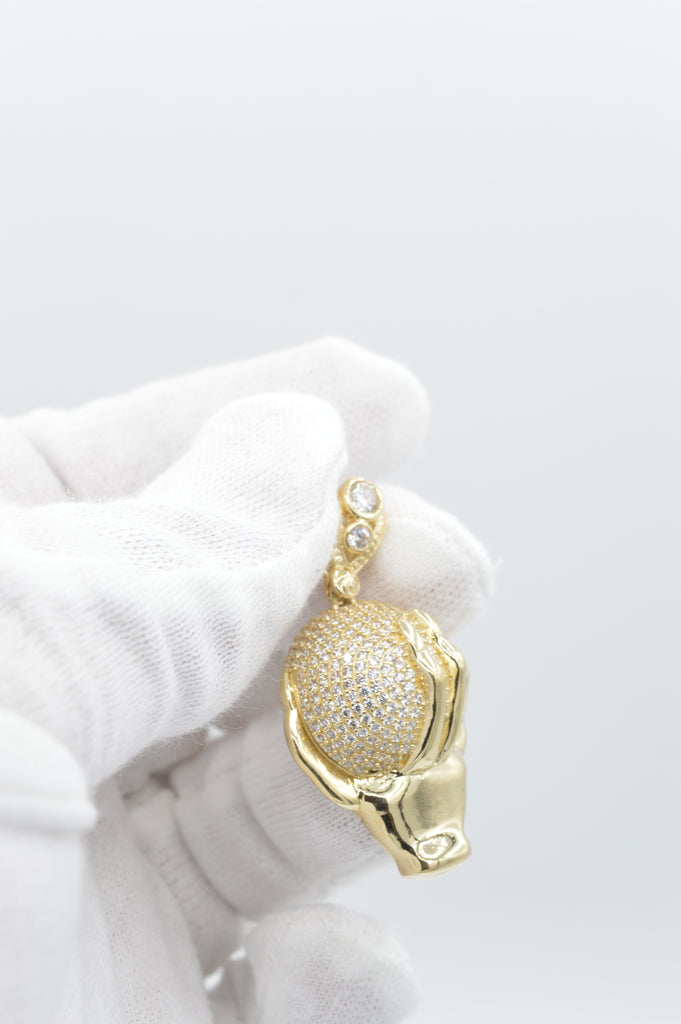 *NEW* 14K Ball in Hand Pendant JTJ™ - - Javierthejewelernyc