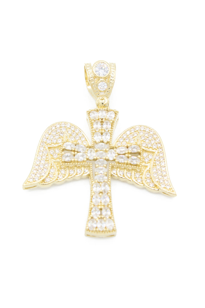 *NEW* 14K CZ Winged Cross - JTJ™ - Javierthejeweler