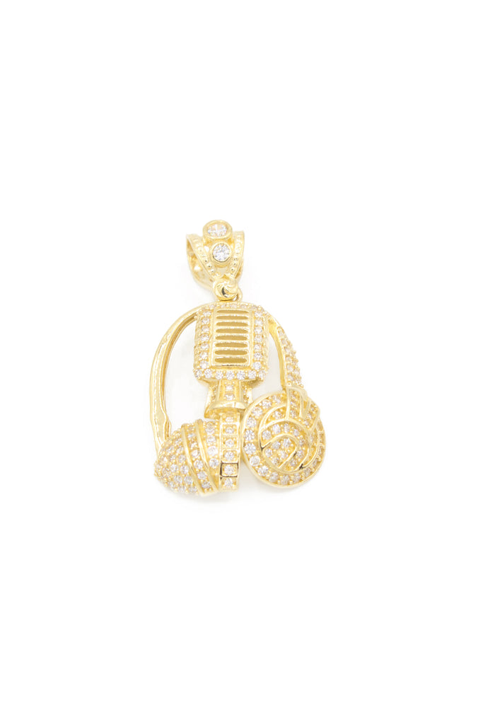 *NEW* 14K CZ Mic and Headphone Pendant - JTJ - Javierthejeweler