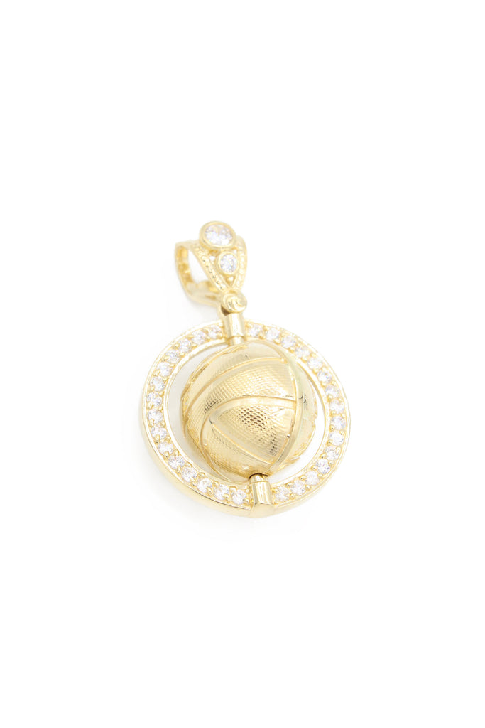 *NEW* 14K CZ Basketball Pendant - JTJ - Javierthejeweler