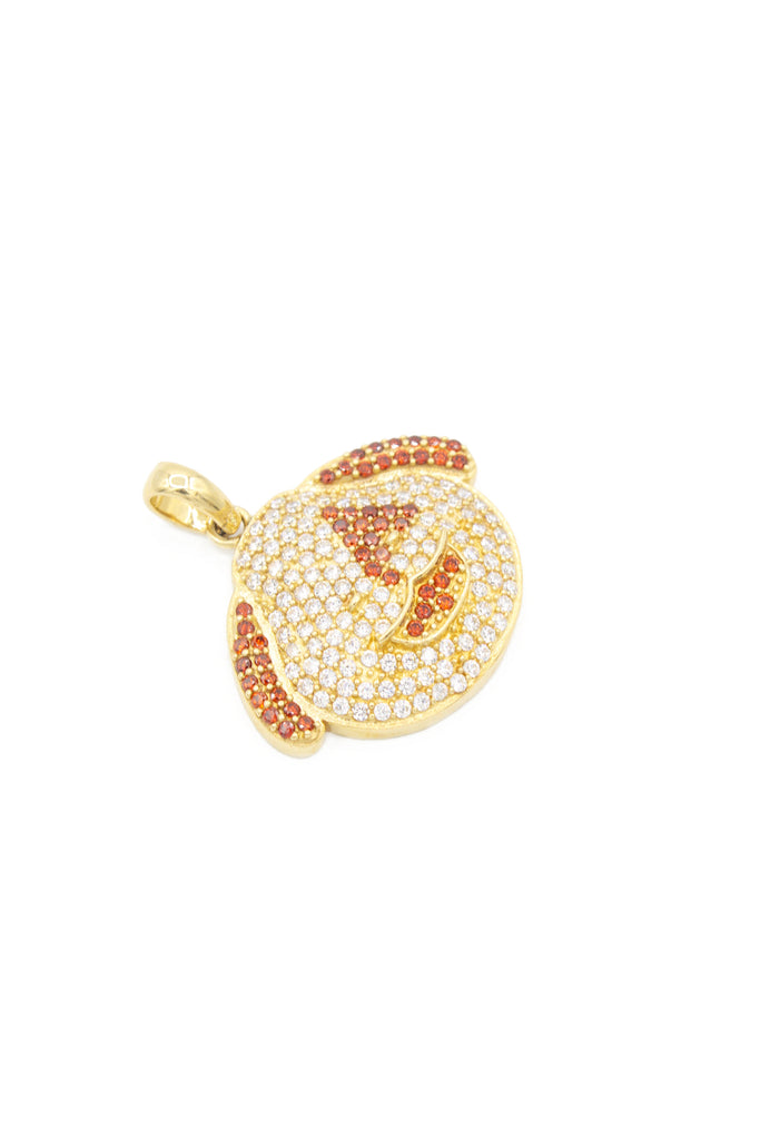 *NEW* 14K CZ Dog Face Emoji Pendant - JTJ - Javierthejeweler