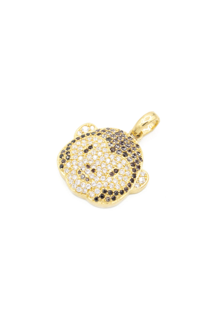 *NEW* 14K CZ Money Face Emoji Pendant - JTJ - Javierthejeweler