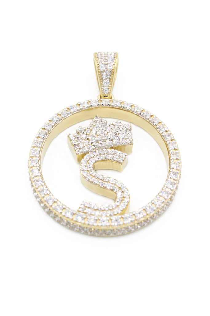 *NEW* 14K Round Initial Pendant (S) -  JTJ™ - Javierthejeweler