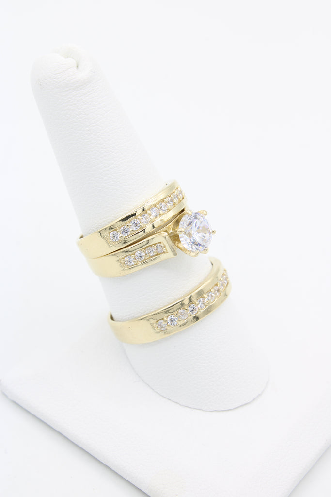 *NEW* 14k Wedding Trio Set - JTJ™ - Javierthejeweler