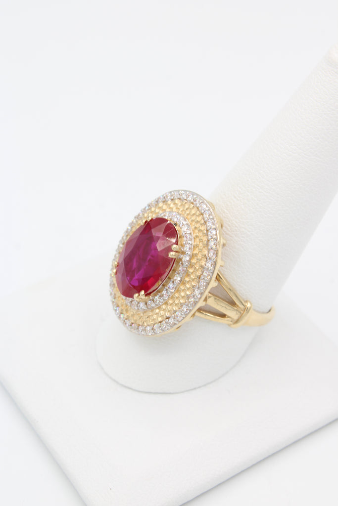 *NEW* 14k Women Oval Ring (Red)- JTJ™ - Javierthejeweler