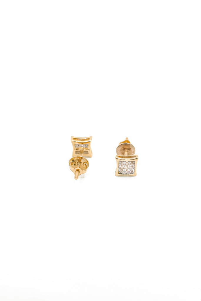 14K Diamond Square Earrings JTJ™ - Javierthejewelernyc