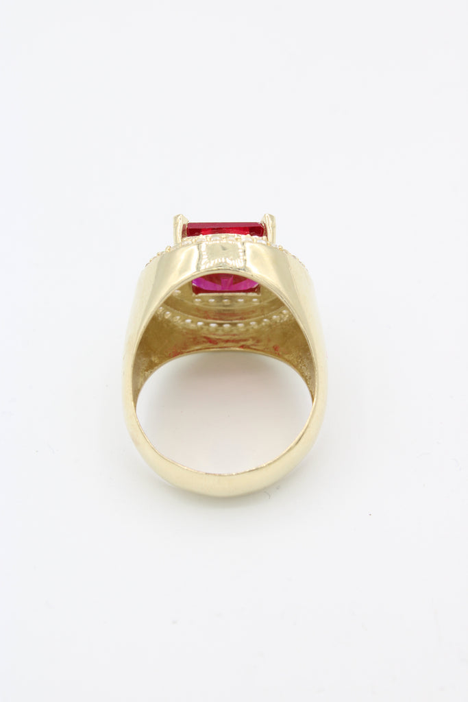 *NEW* 14K  Men's Ring (RED STONE) JTJ™ - - Javierthejewelernyc