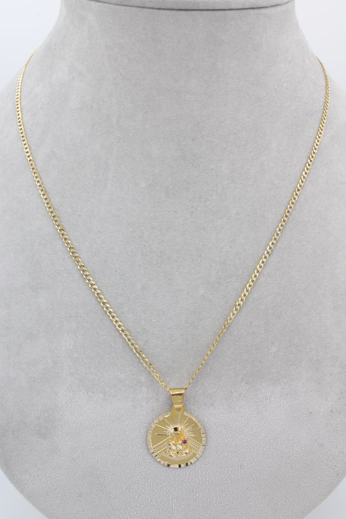 14k Two Tone Chain with virgen pendant JTJ™ - Javierthejewelernyc