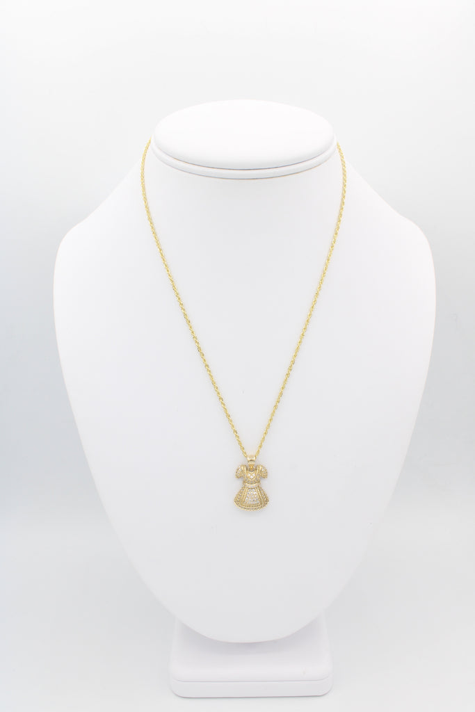 *NEW* 14K Hollow Rope Chain With Pendant (Dress) JTJ™ - - Javierthejeweler
