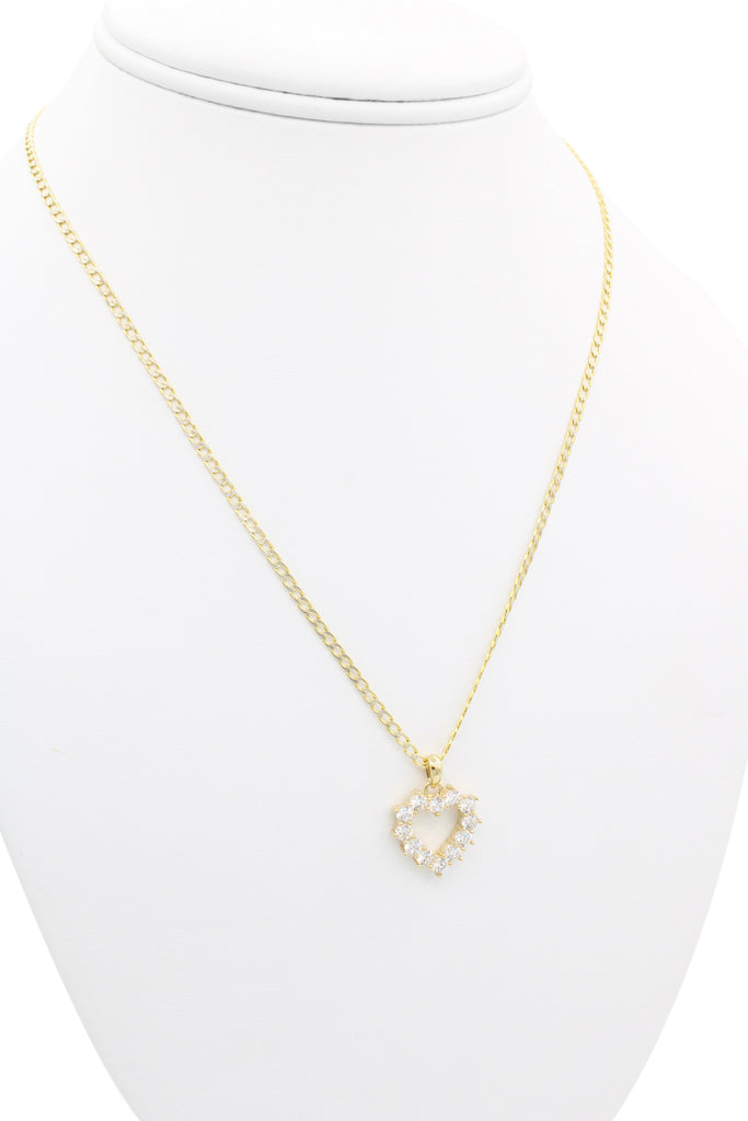 *NEW* 14K Hollow Cuban Chain With Pendant Heart JTJ™ - - Javierthejeweler
