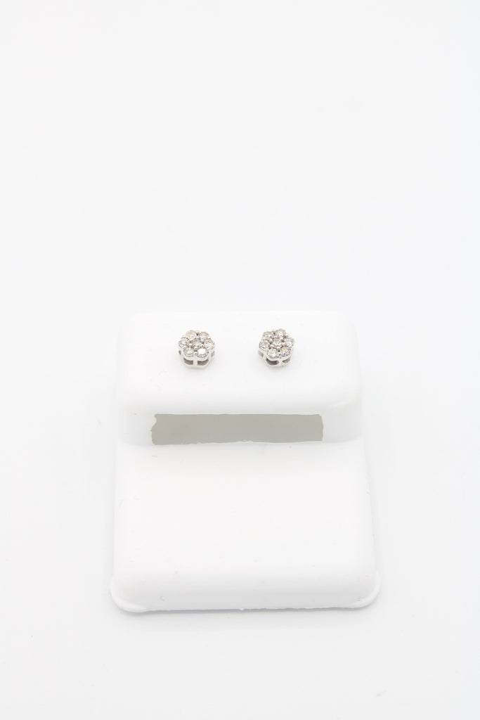 *NEW* 14K 💎Diamond's White Earring (Flower) JTJ™ - Javierthejewelernyc