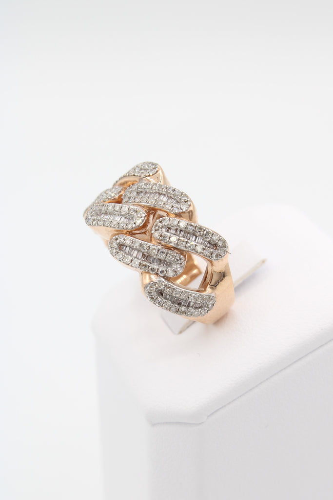 *NEW* 14K Men's 💎Diamond Cuban Ring (Rose Gold) JTJ™ - Javierthejewelernyc
