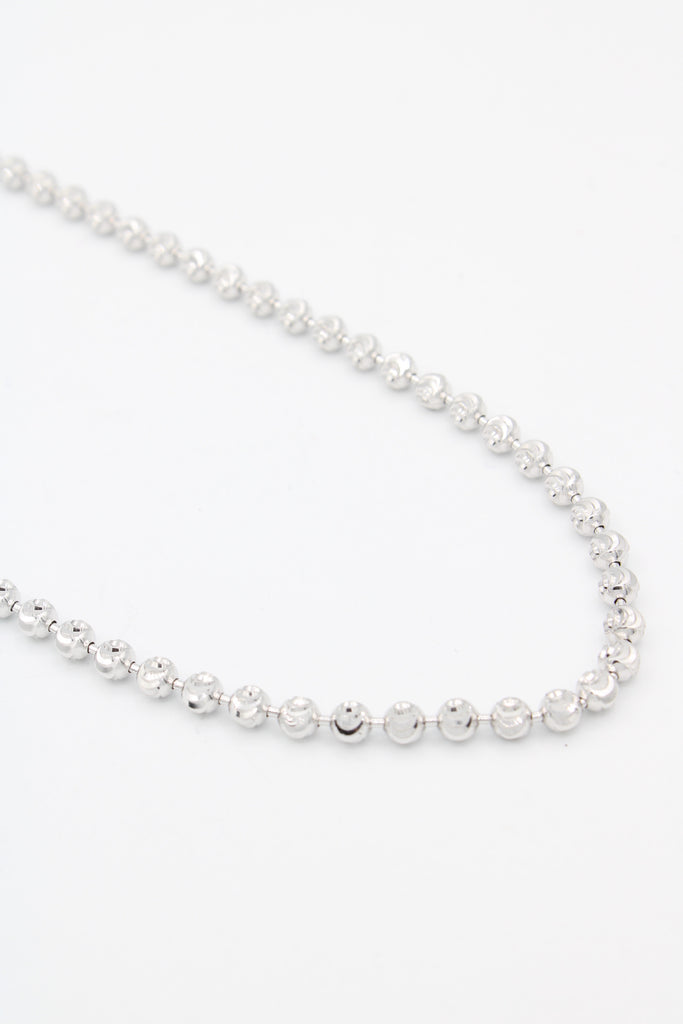 *NEW* 14k Moon Cut Chain (White) JTJ™ - Javierthejewelernyc