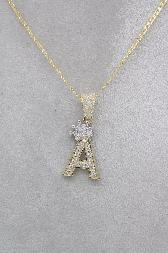 *NEW* 14k Solid Cuban Chain W/ Initial Pendant (A) Included  JTJ™ - Javierthejewelernyc