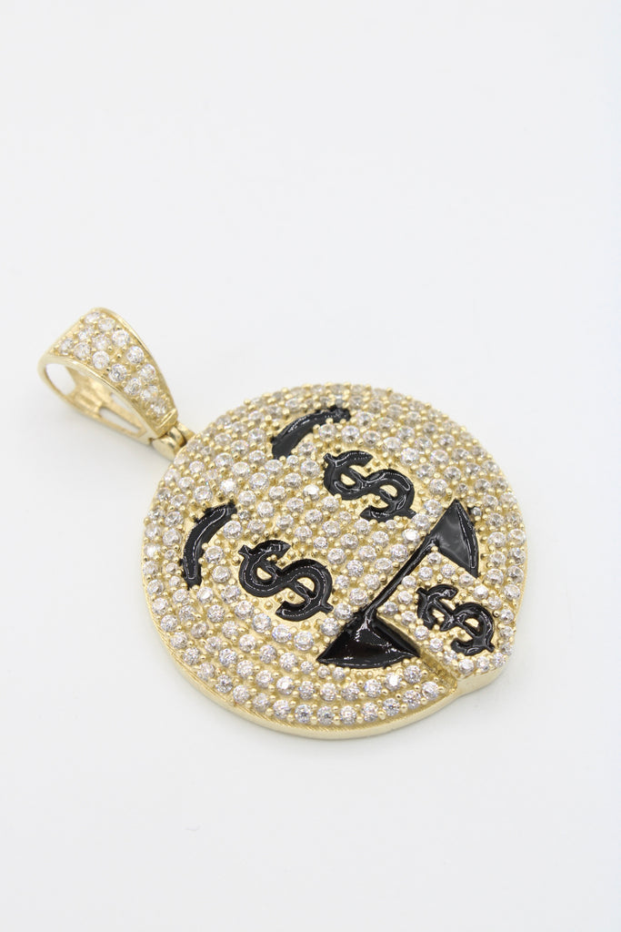 14K Money Eye Emoji Pendant JTJ ™- - Javierthejewelernyc