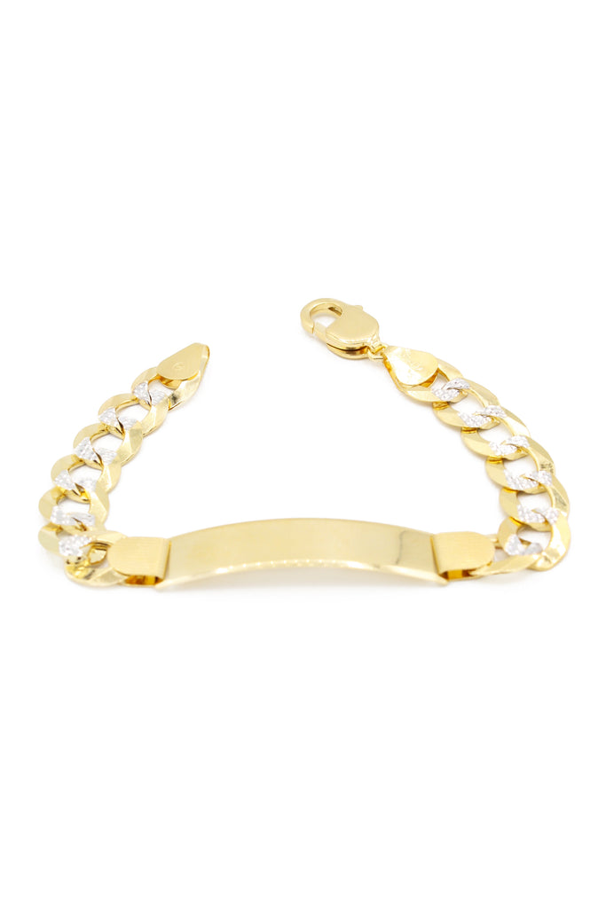 *NEW* 14k Cuban ID Bracelet For Man- Two Tone -JTJ™- - Javierthejeweler