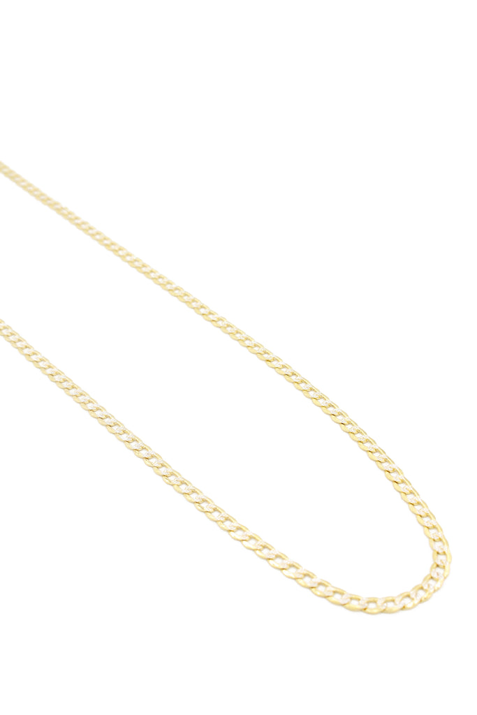 *NEW* 14k Cuban Chain Twotone (Curb) JTJ™ - Javierthejeweler