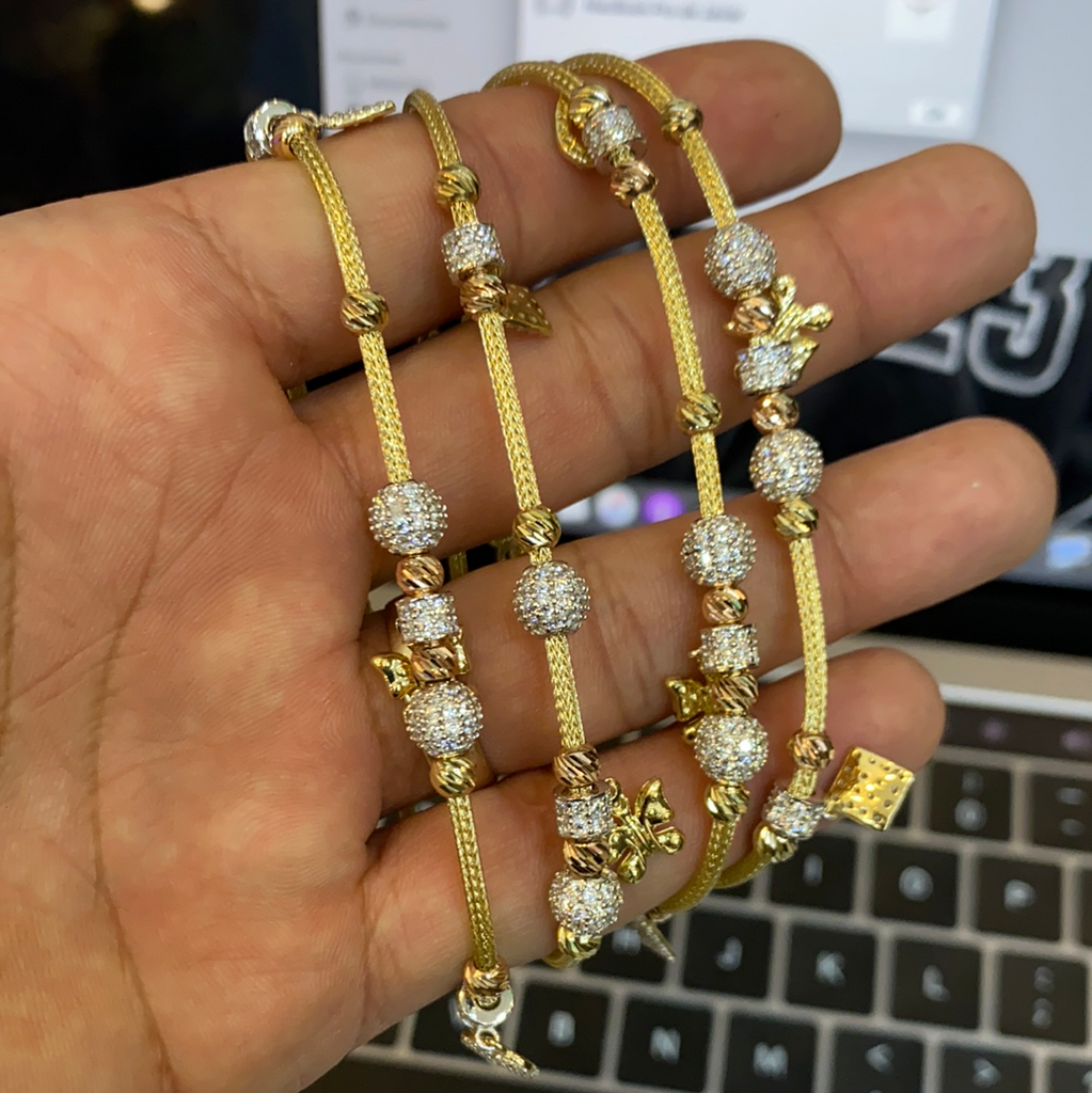 *NEW* 14K Pandora Big Charms 14K Gold Pendant Bracelet 🧒 JTJ™ - Javierthejeweler