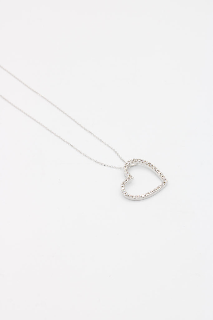 *NEW* 14k Lady Necklace White💎Diamonds❤️ (Heart )- JTJ™ - Javierthejewelernyc