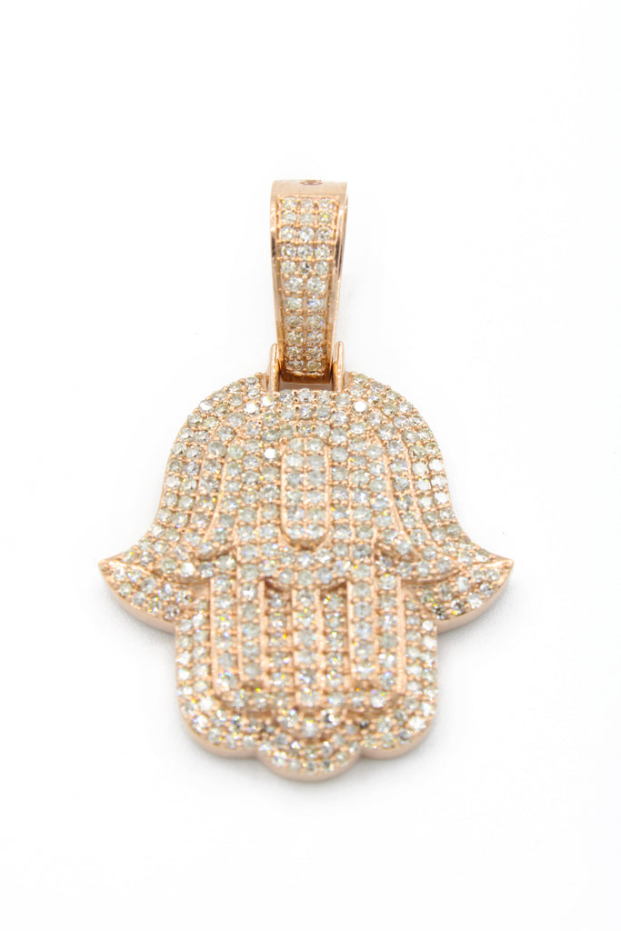 *NEW* 14K 4-Tier Hamsa Diamond Pendant (L) JTJ™ - Javierthejewelernyc