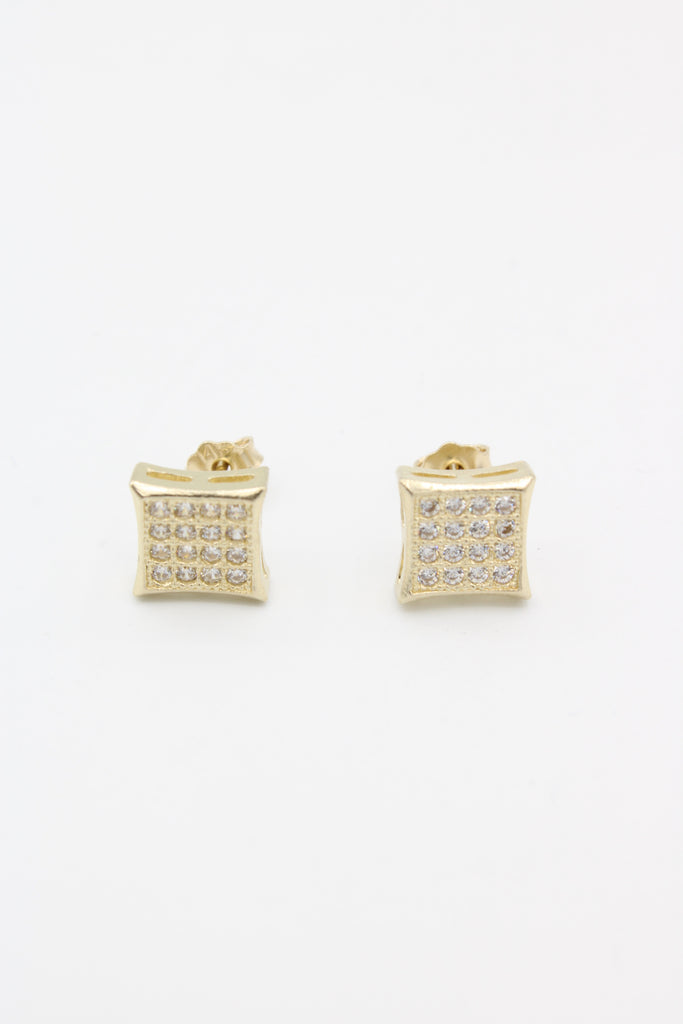 14K CZ Square Earrings JTJ™ - Javierthejewelernyc