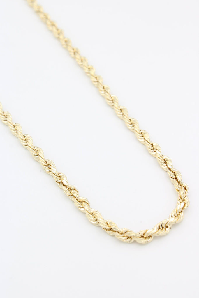 *New* 14K Gold Hollow Rope Chain (2.2MM)-™- - Javierthejeweler