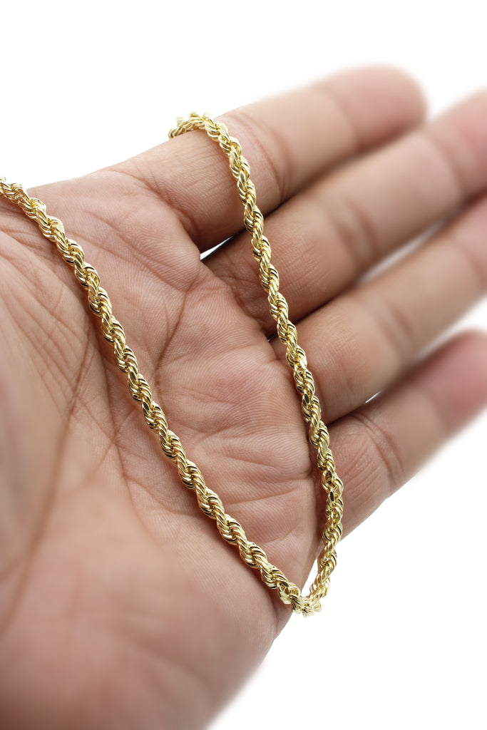 "*NEW* 14K Hollow Rope Chain (24"" Inches 3.9MM)- JTJ™ - Javierthejeweler"