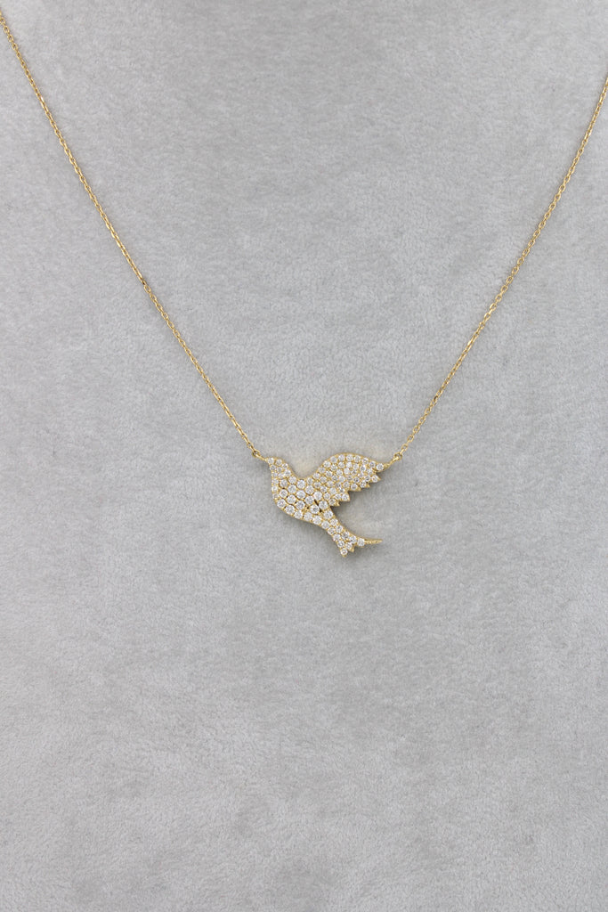 *NEW* 14k Lady Necklace 💎Diamonds Dove 🕊💎- JTJ™ - Javierthejewelernyc