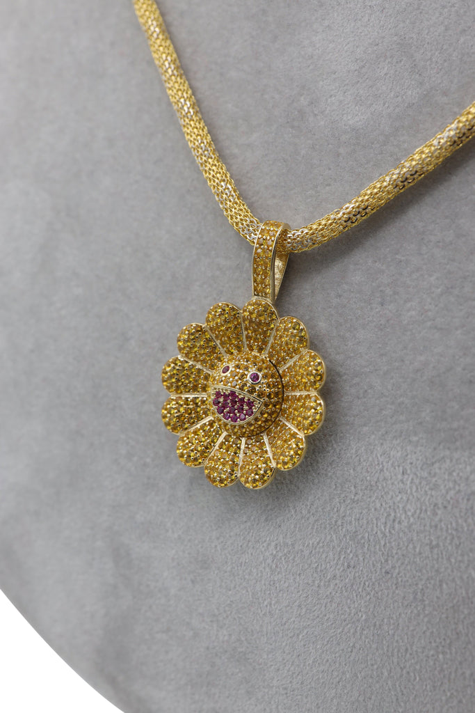 *NEW* 14k Hollow Bizmark Chain W/ Flower Pendant Included  JTJ™ - Javierthejewelernyc
