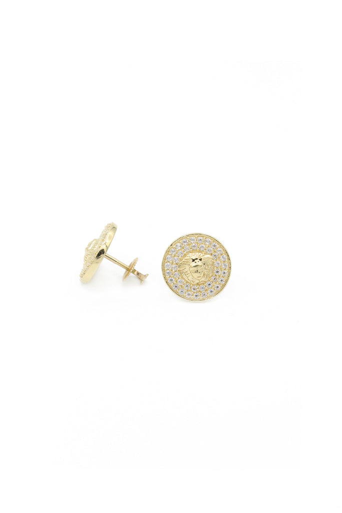 *NEW* 14K Versace Round-Earrings JTJ™ - Javierthejewelernyc