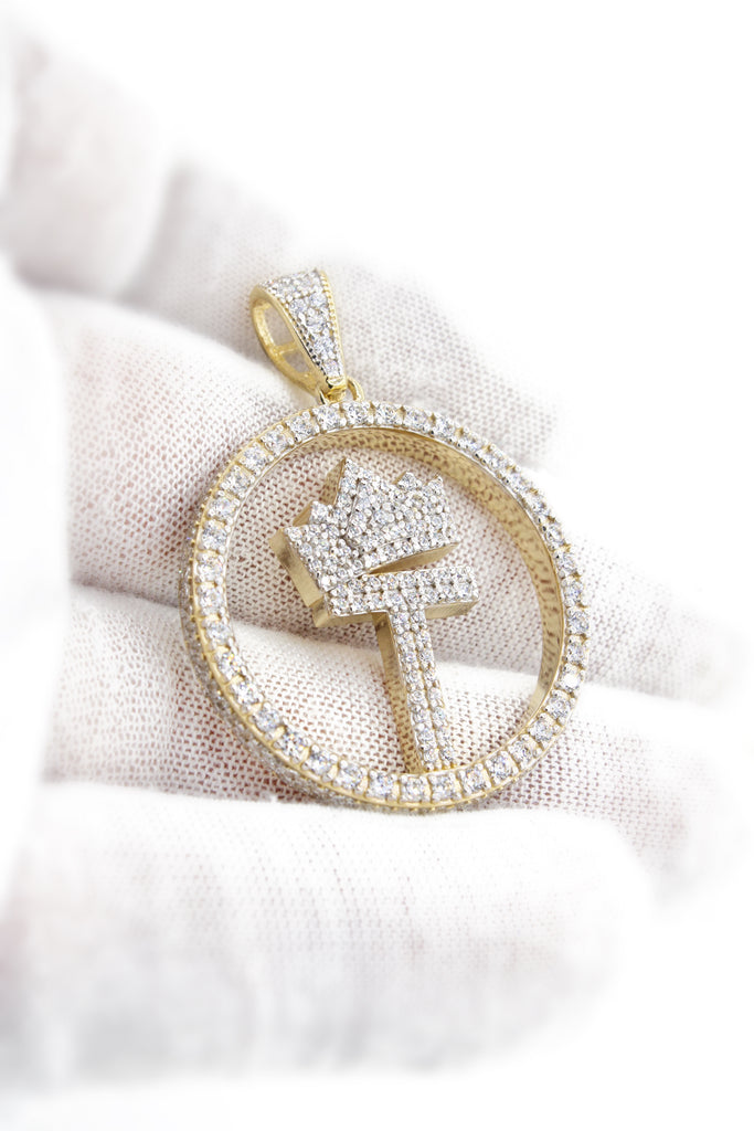 *NEW* 14K Round Initial Pendant (T) -  JTJ™ - Javierthejeweler