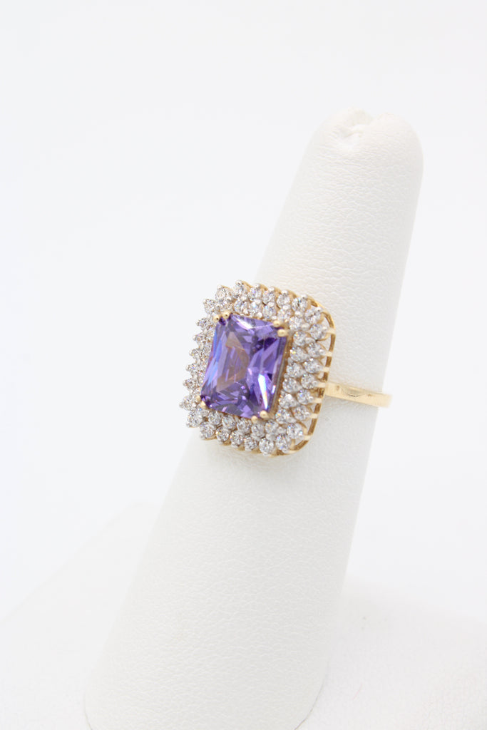 14K Woman Ring Purple Stone JTJ™ - Javierthejewelernyc