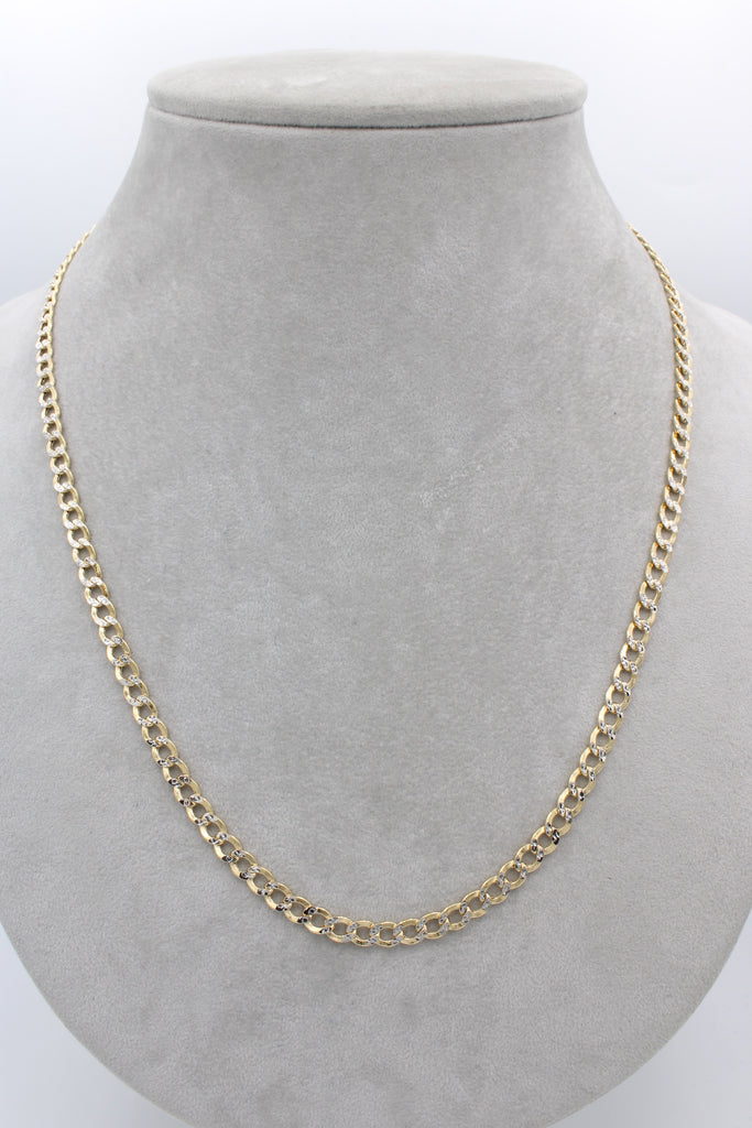 "*NEW* 14k Hollow Cuban Chain Curb Two Tone ( 22"" inches)JTJ™ - Javierthejeweler"