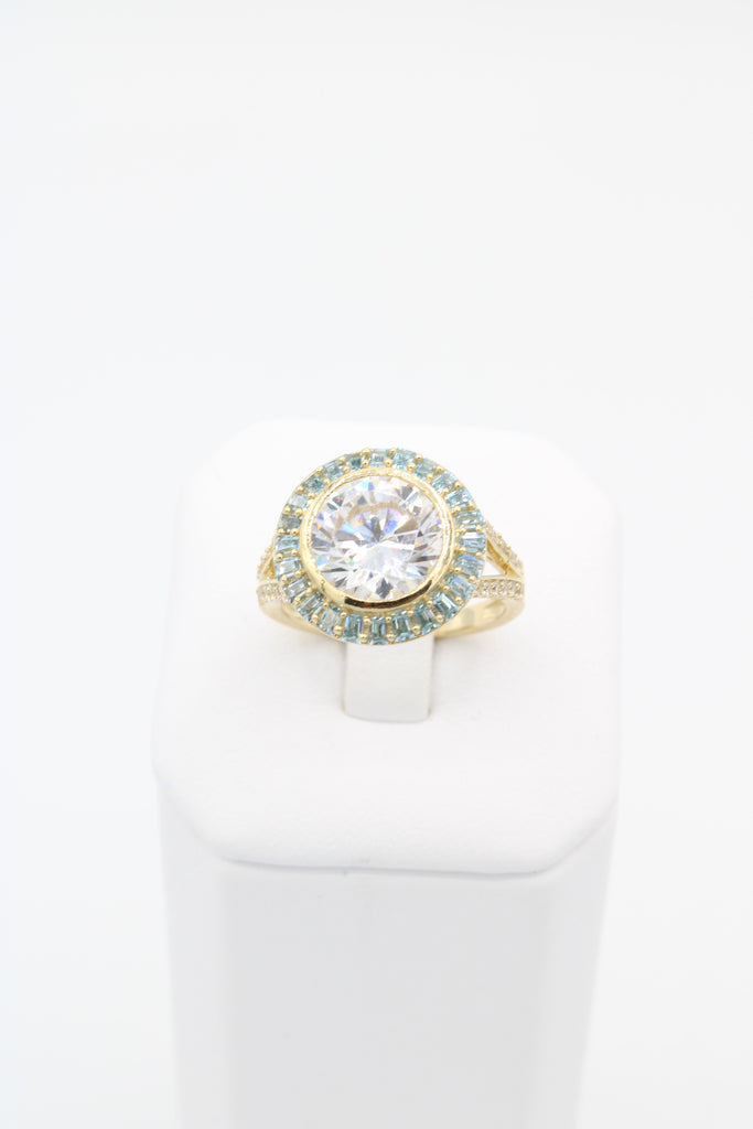 *NEW* 14K Women Ring (White & Aqua Stones)-JTJ™ - Javierthejeweler