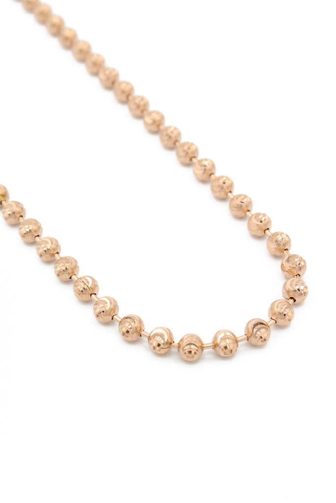 *NEW* 14K Rose Gold Moon Cut Chain  JTJ™- - Javierthejewelernyc