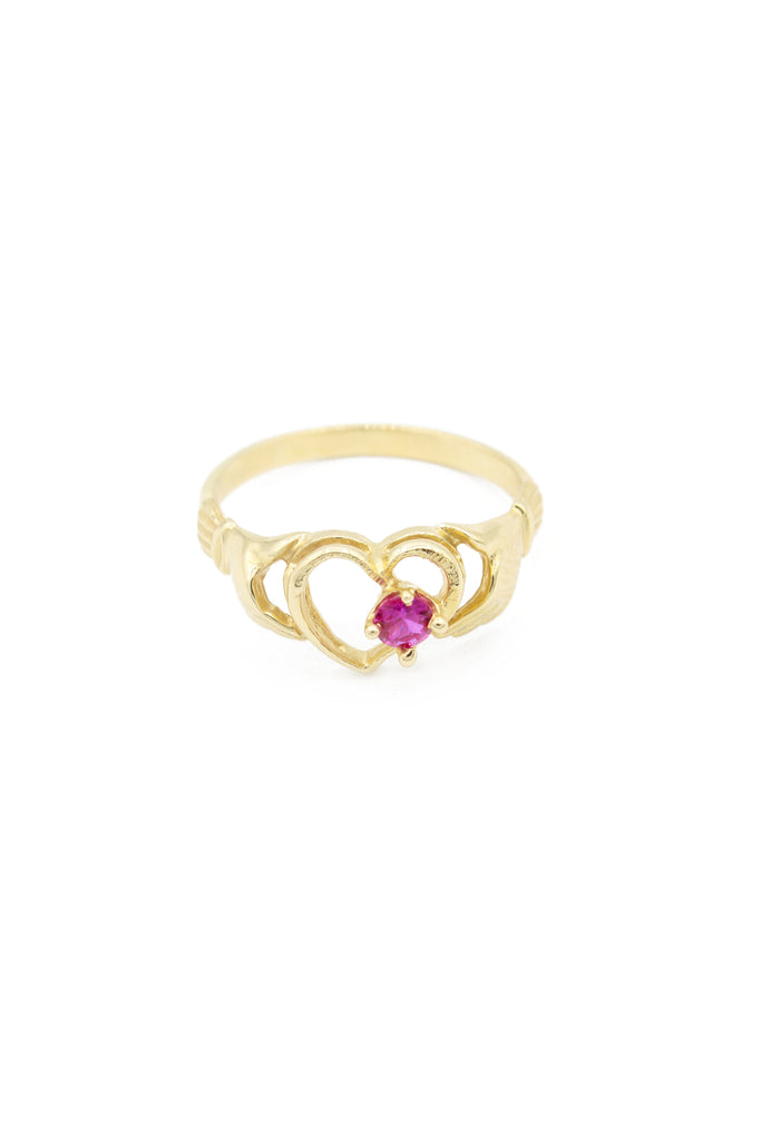 *NEW* 14K Women CZ Ring(Red Stone)-JTJ™ - Javierthejeweler