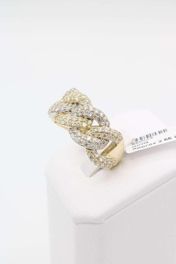 *NEW* 14K Men's 💎Diamond Cuban Ring (Twotone Gold) JTJ™ - Javierthejewelernyc