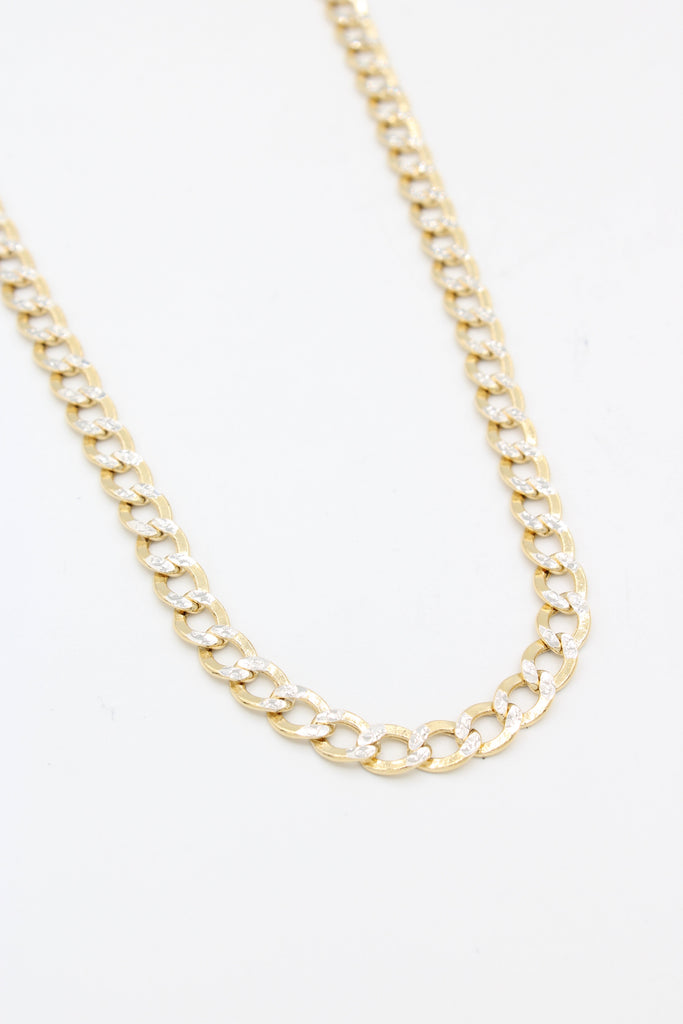 "*NEW* 14k Hollow Cuban Chain Curb Two Tone ( 24"" inches)JTJ™ - Javierthejeweler"