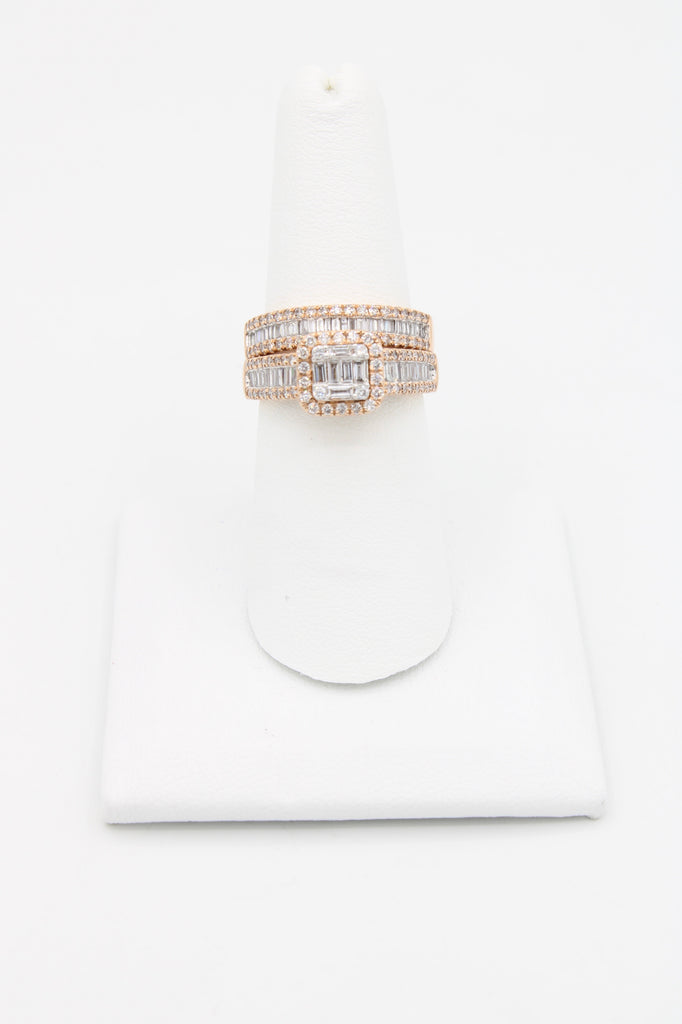*NEW*14k Rose Gold VS/Baguette 💎 Duo Engagement Ring JTJ™ - Javierthejewelernyc